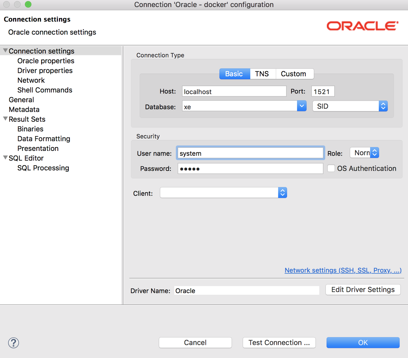 How to Install Oracle Database via Docker in Mac and Connect with