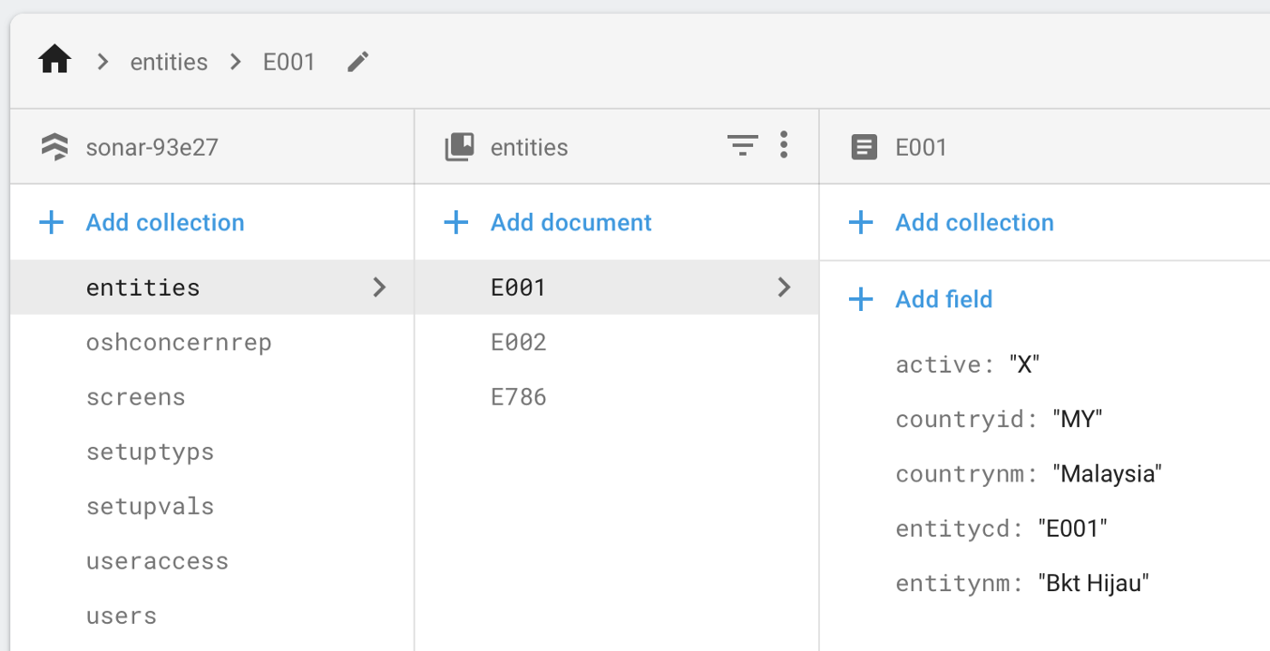 How to upload data to Firebase Firestore Cloud Database
