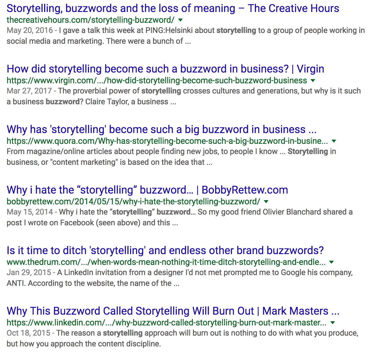 Storytelling Is Not a Buzzword - Marketing And Growth Hacking