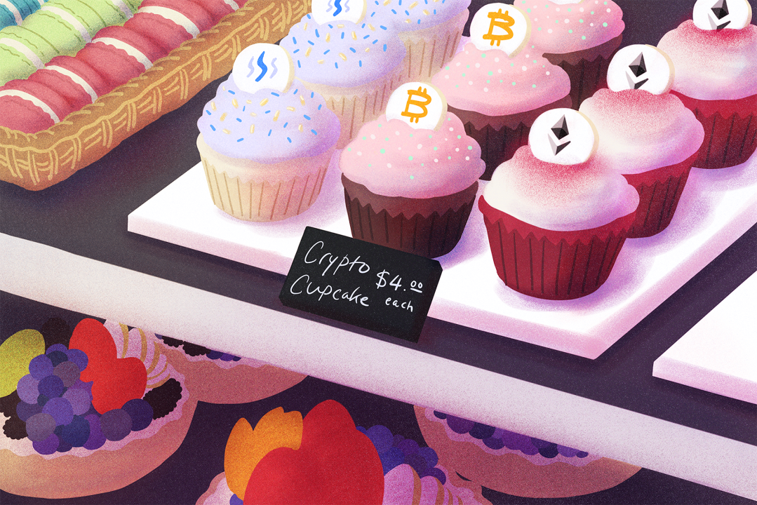 Crypto cupcakes sold for $4 each