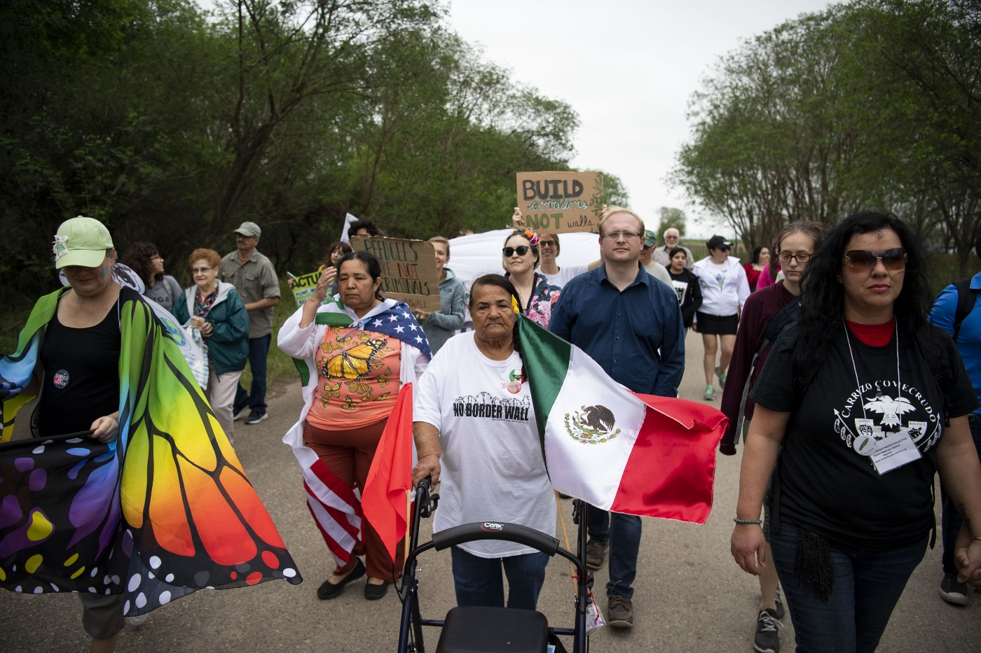 The Rio Grande Valley Climate March at the National Butterfly Center in Mission, Texas on March 3, 2019.