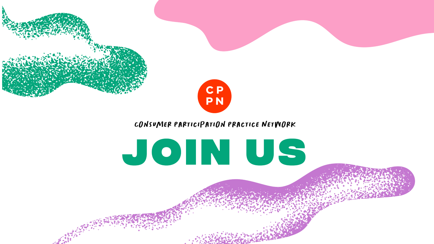 Join us text and CPPN logo on colourful background