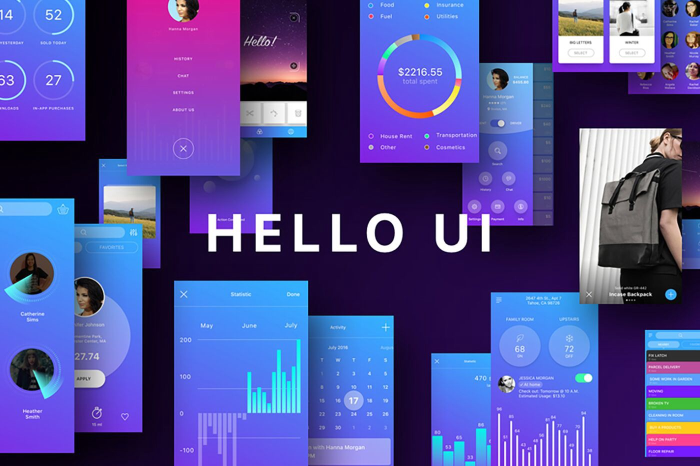 Our favorite UI kits, themes, fonts and templates from The Hungry JPEG