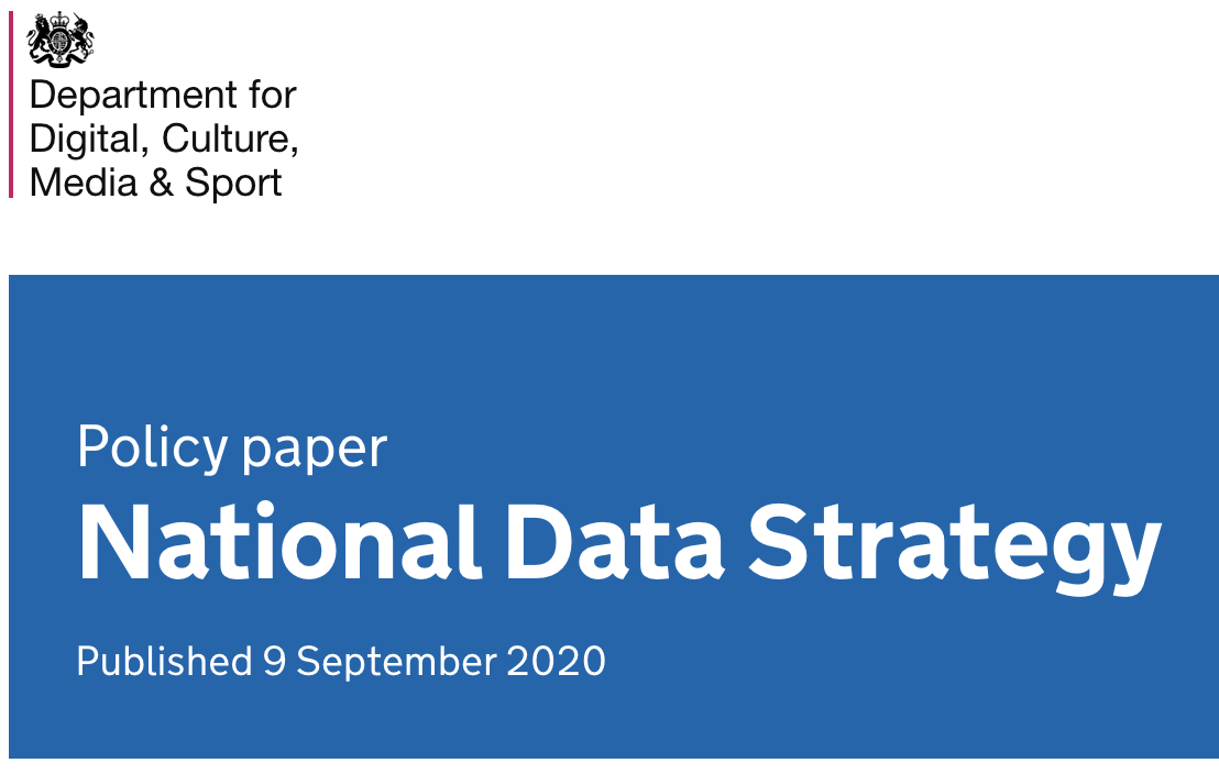 A screengrab from the National Data Strategy web page