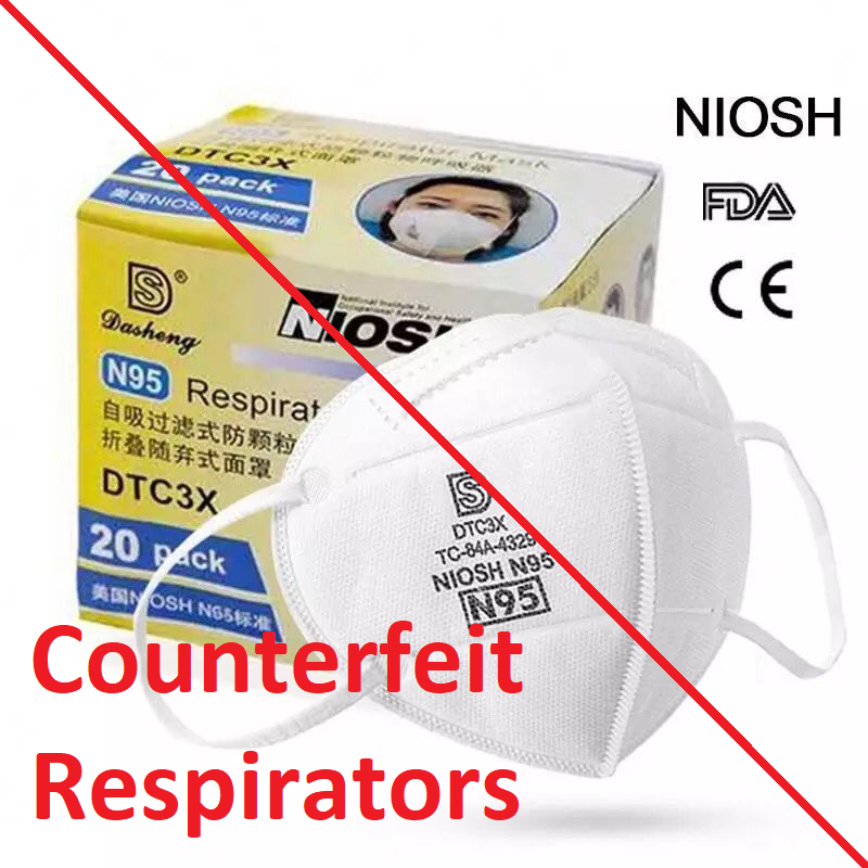 fake or counterfeit KN95 and N95