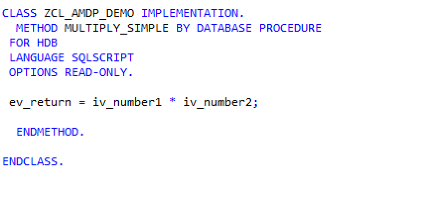 ABAP on HANA : Implementing AMDP - ZBAP net