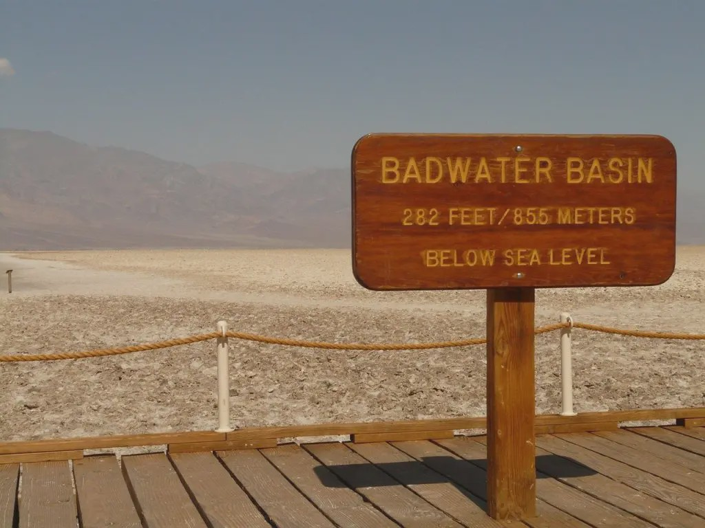 View of dry Badwater Basin