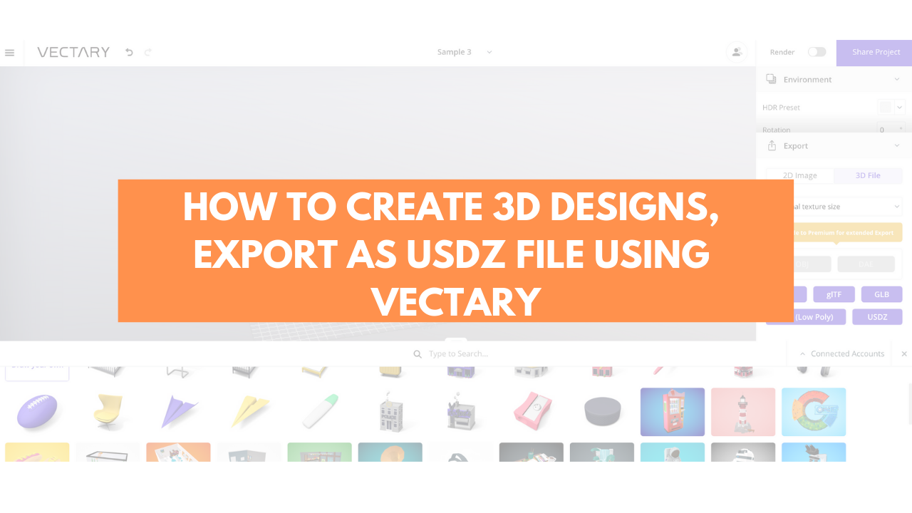 Vectary — A quick way to create 3D Designs and USDZ files