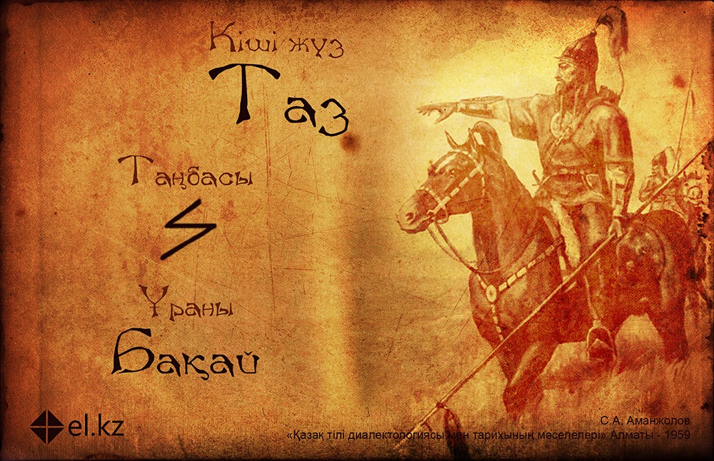 """The name of my father's RU [clan]—Taz, its seal, and its battle cry, """"Baqaı""""."""