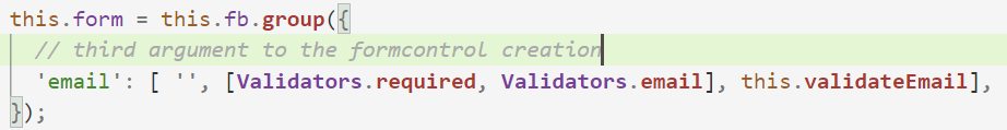Example: How to Use async validator