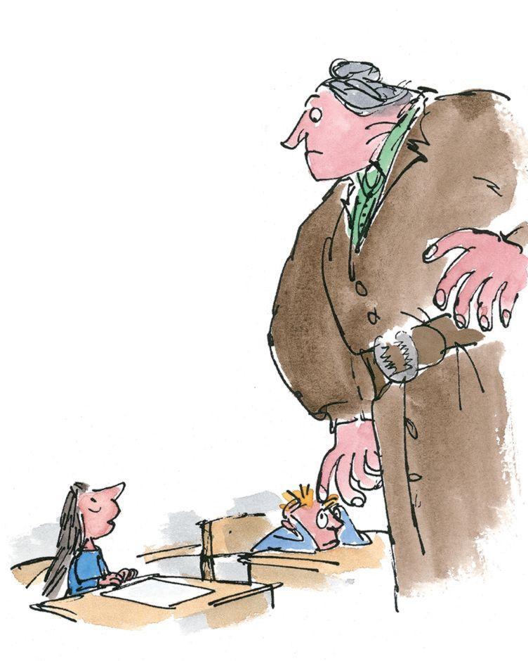 From Matilda by Roald Dahl, illustrated by Quentin Blake