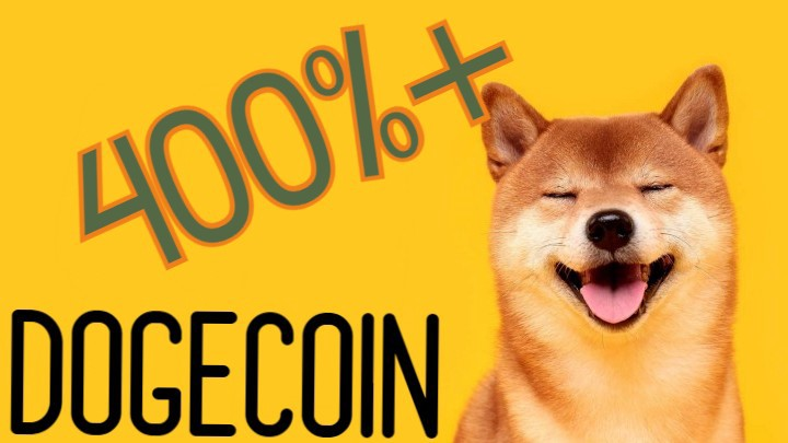 Dogecoins (DOGE) price exploded by over 400%!