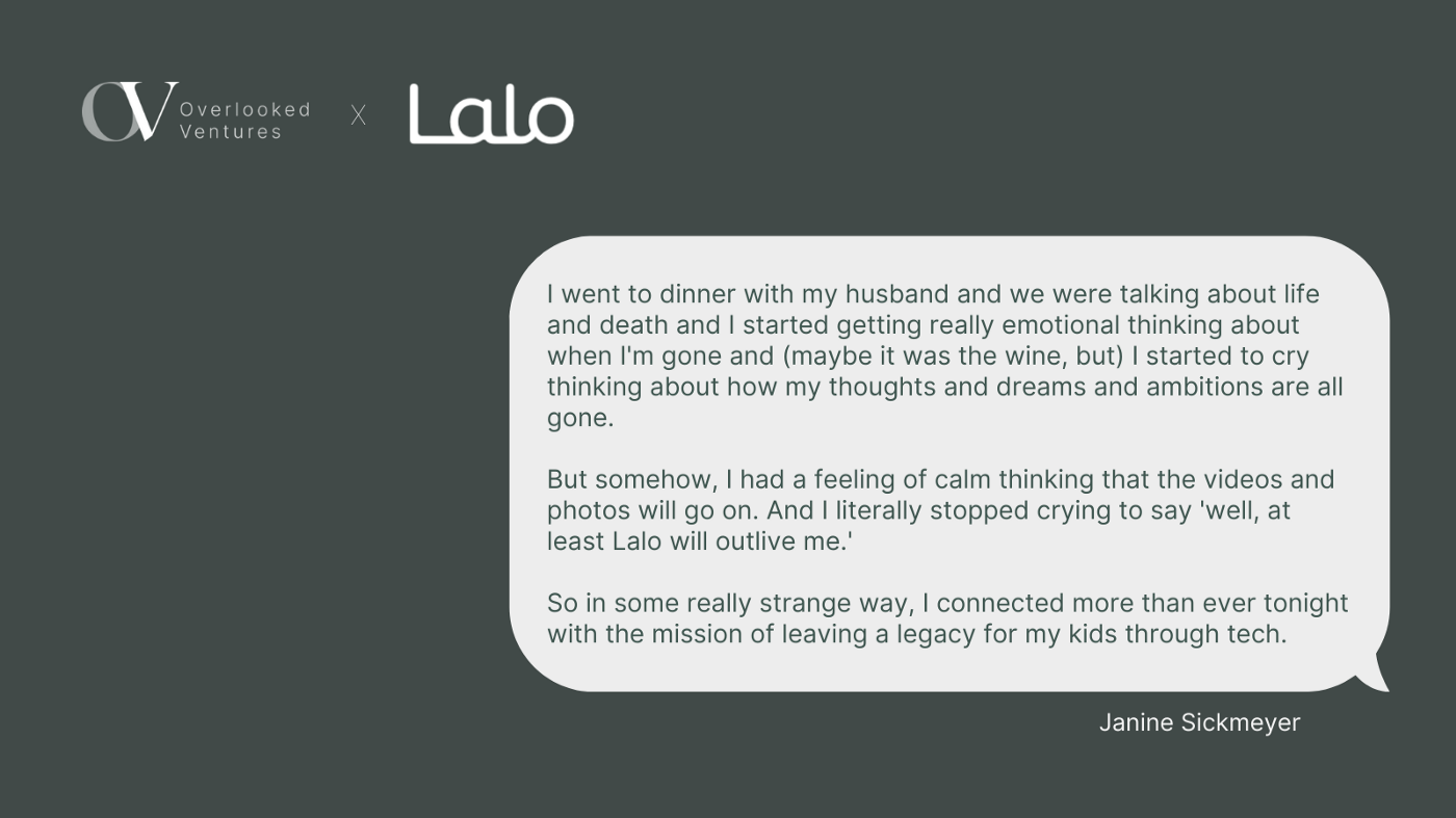 Image description: A screenshot of the text conversation Janine shared with the Lalo team