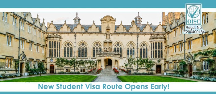 New student visa route for uk launched early under PBS