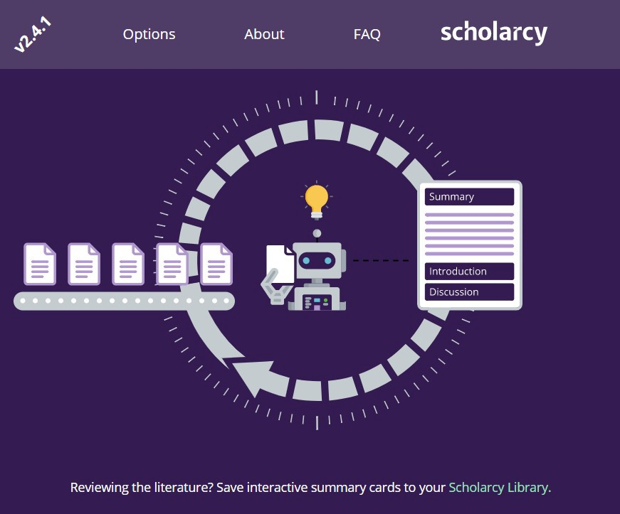 Scholarcy plugin for research paper summarization
