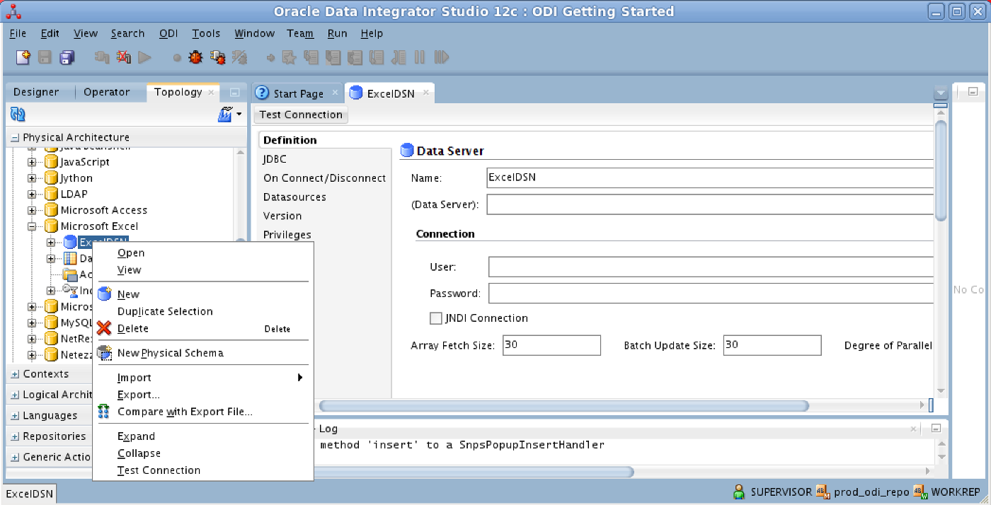 Using the Oracle Data Integrator (ODI) 12 2 1 with Microsoft Excel