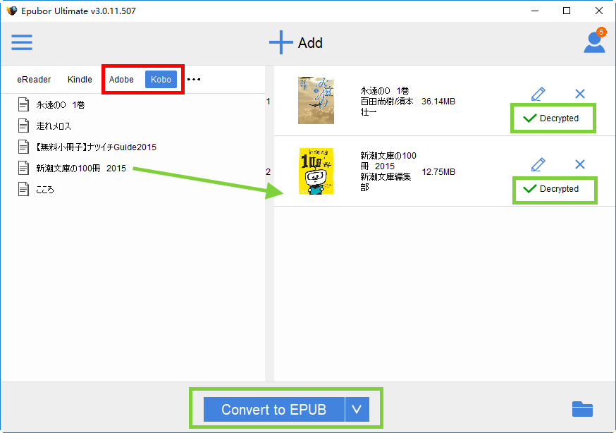 A Complete Guide to Convert Kobo to ePub/PDF/Kindle (Remove DRM)