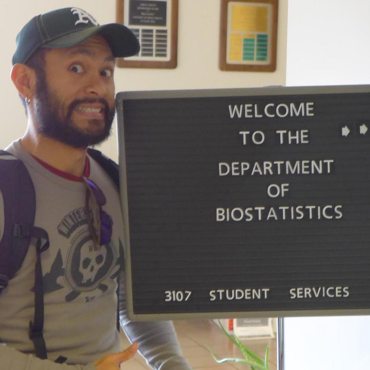 Eric J. Daza at the University of North Carolina Department of Biostatistics circa 2014.