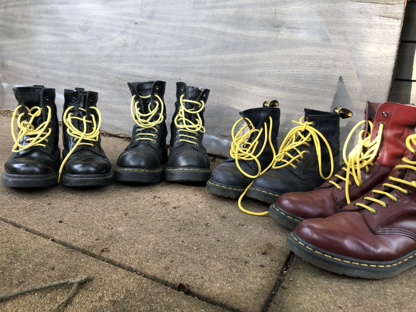 photo of some of the author's doc martens