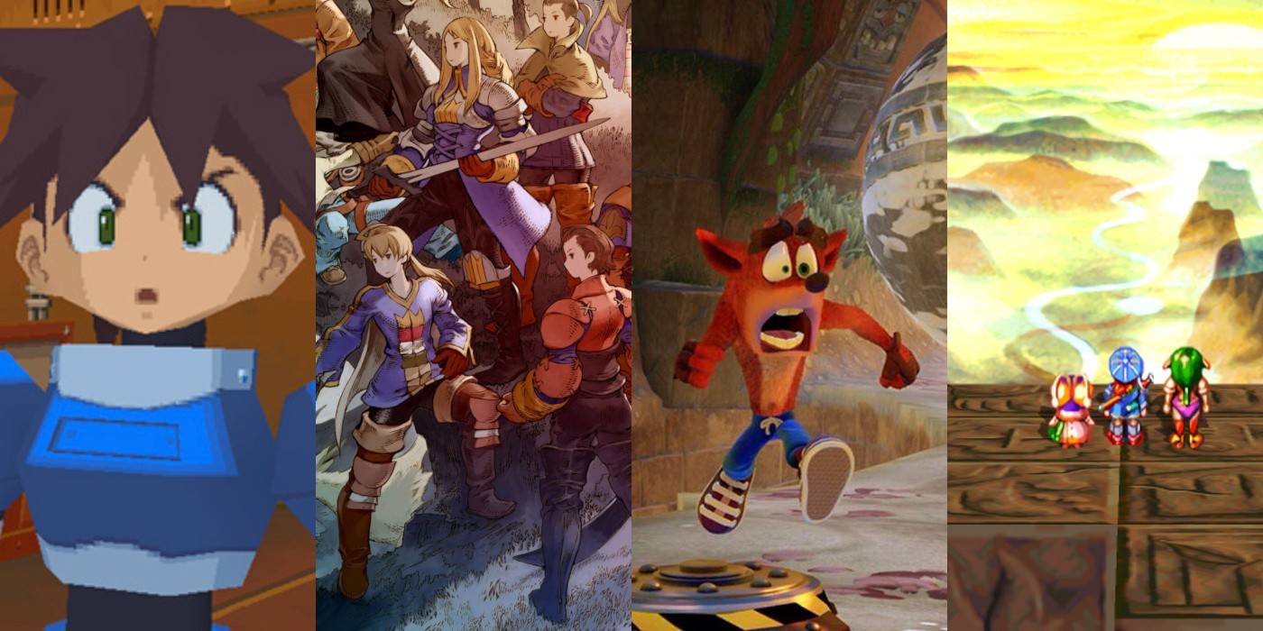 Game screenshots and promotional art collage.