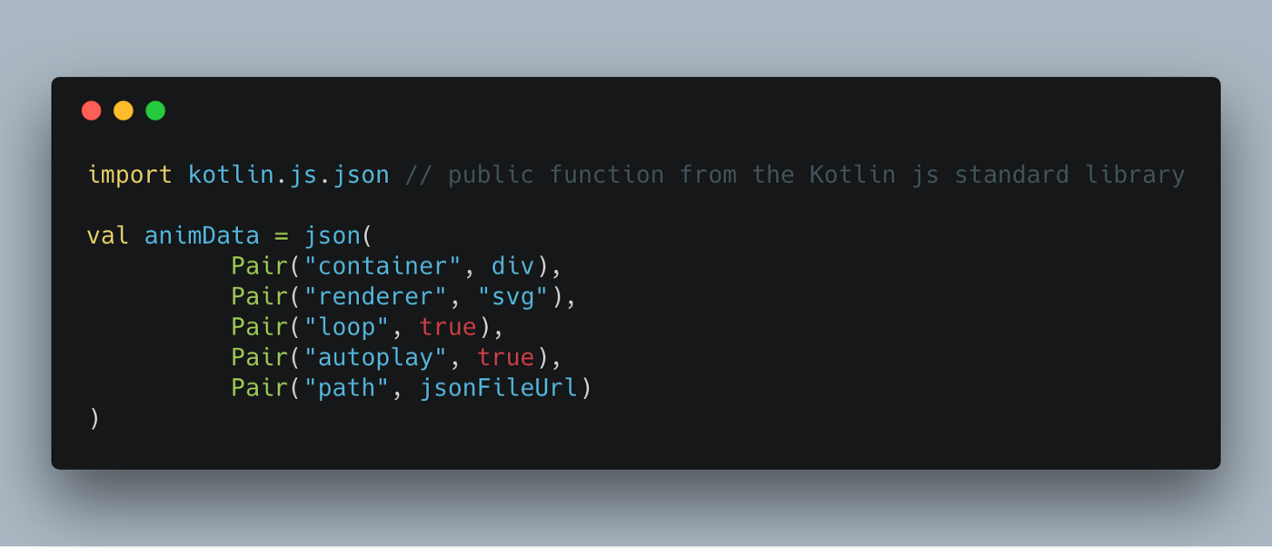 Call a JavaScript library from Kotlin code as a static type