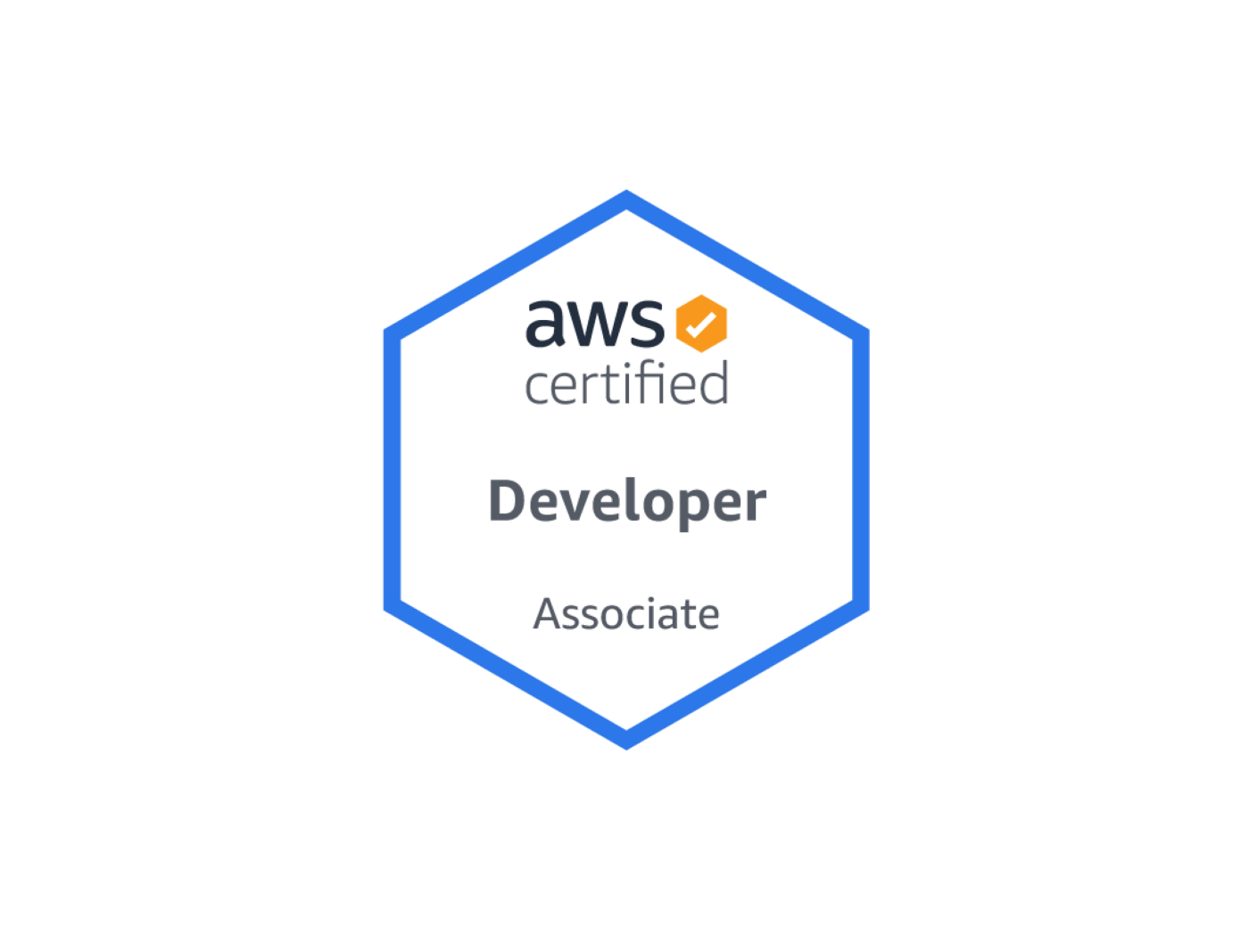Certified Developer Associate DVA-C01 badge by Amazon Web Services