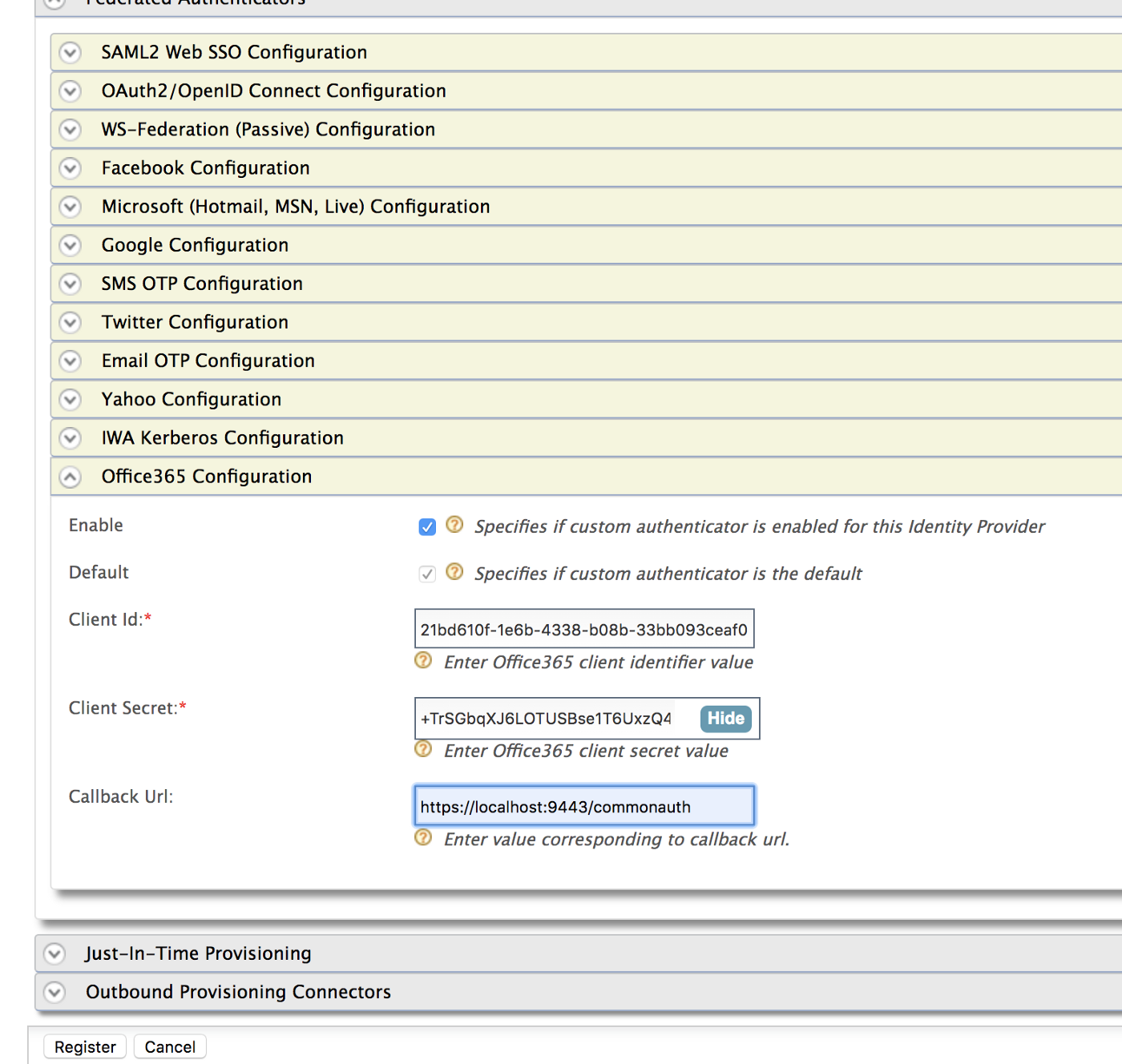 Configuring Microsoft Azure AD Authenticator as Federated IDP in