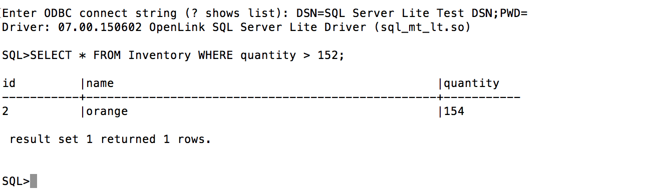Installing the OpenLink Lite Edition ODBC Driver for SQL Server — on