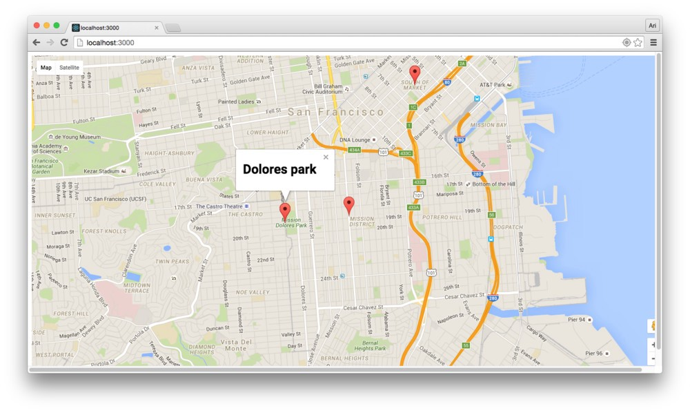 Writing a Google Maps React Component - Vanila Blog