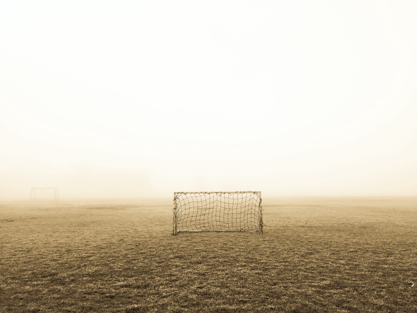 Soccer Goal in the middle of a field