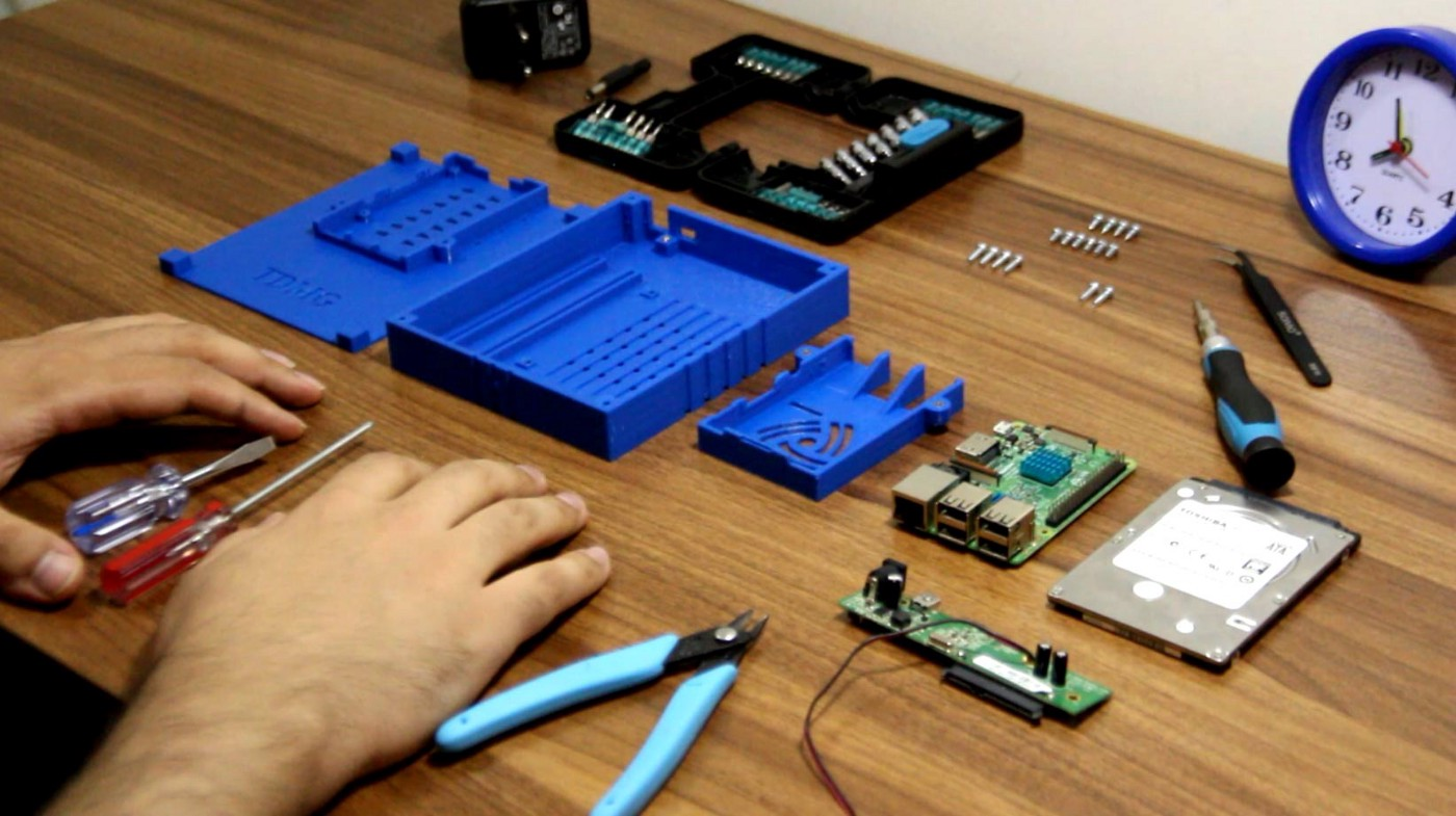 Customer 3d printed case for Raspberry Pi Network Attached Storage