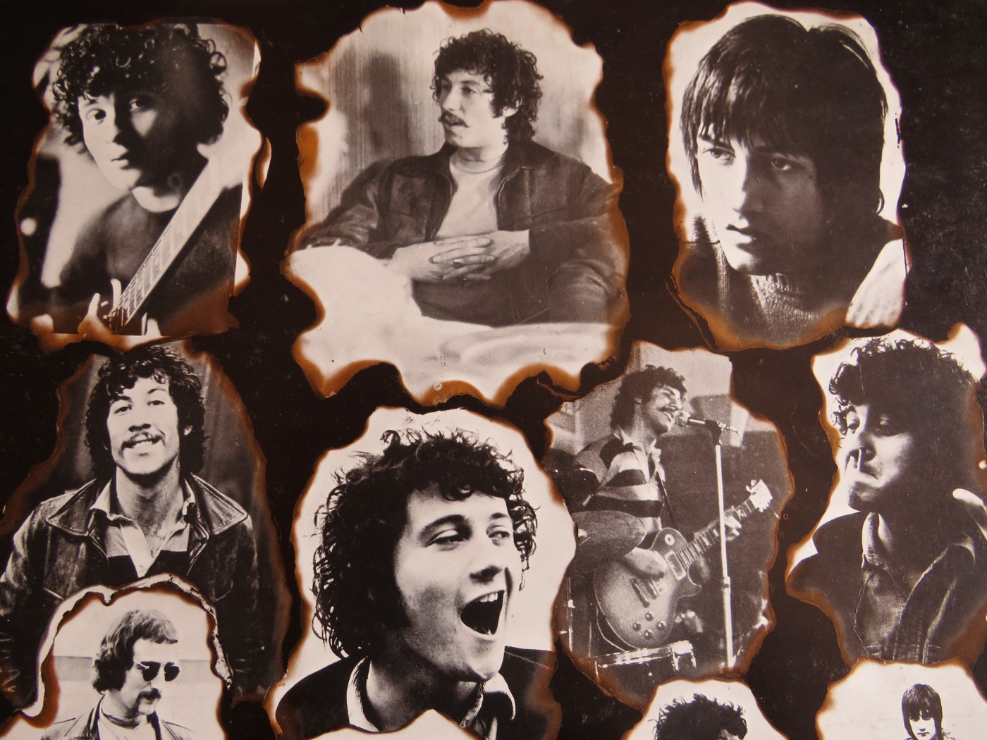 Photograph of members of Fleetwood Mac blues band 1968, from the album 'Mr Wonderful'.