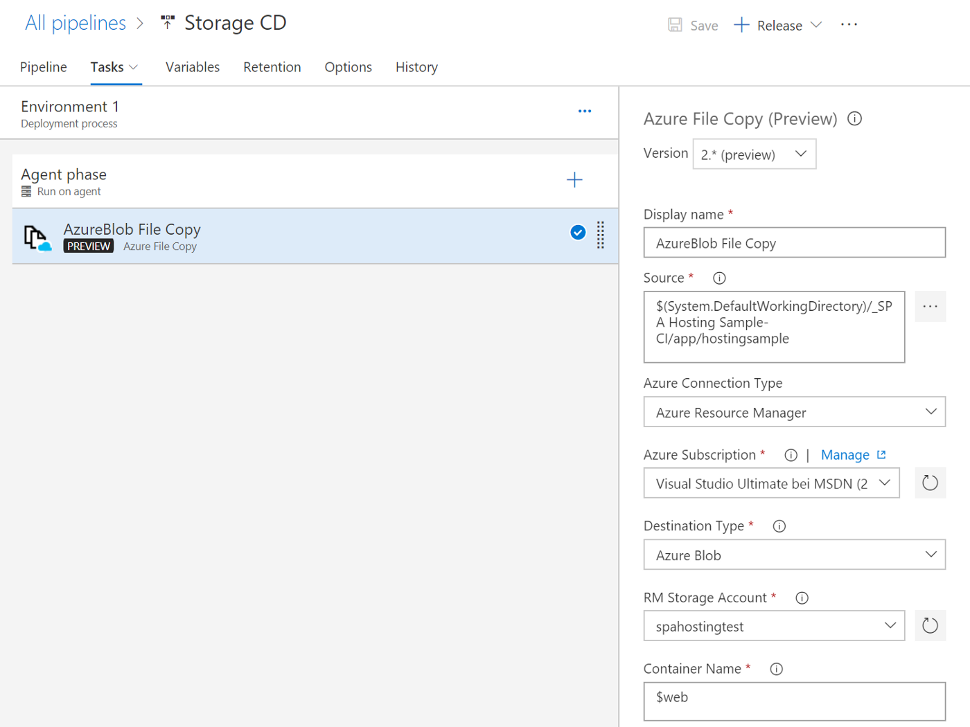 Best way to host a Single Page Application (SPA) in Microsoft Azure