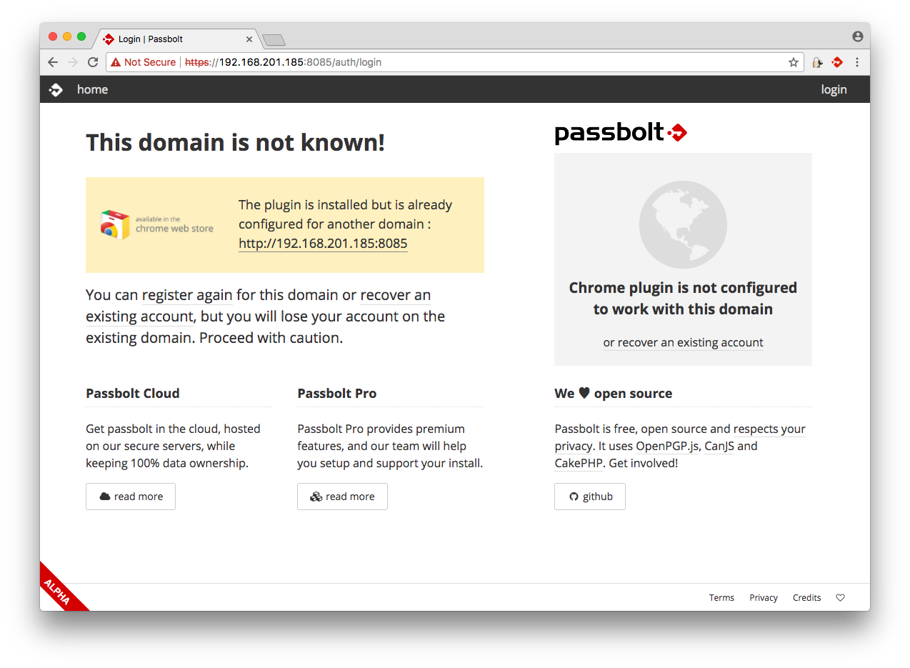 Passbolt v1 on CentOS 7 with NGINX / PHP7-FPM / MariaDB from scratch