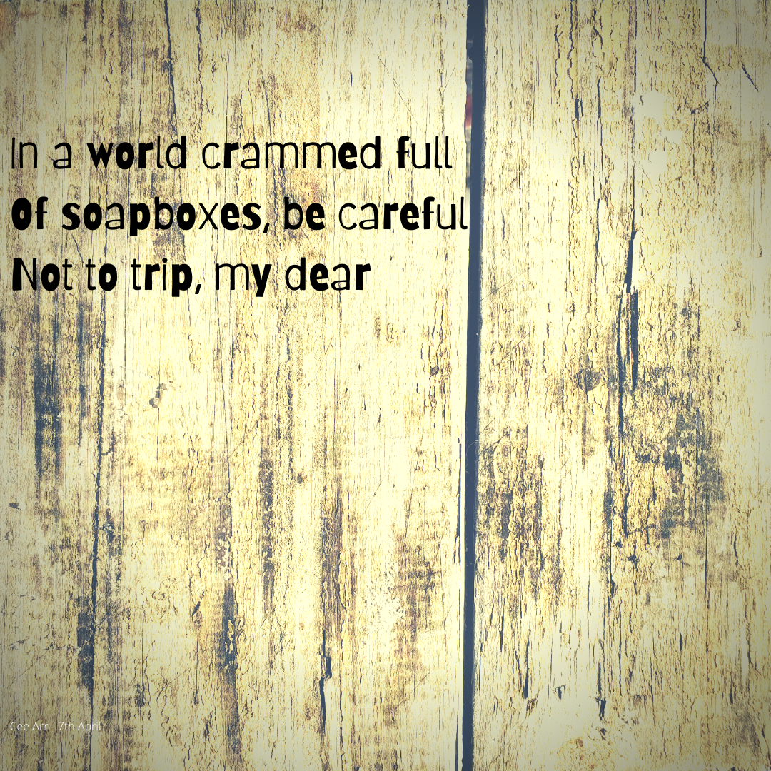 Graphic for poem against a wood effect background. Text of the poem is in the body of this post.