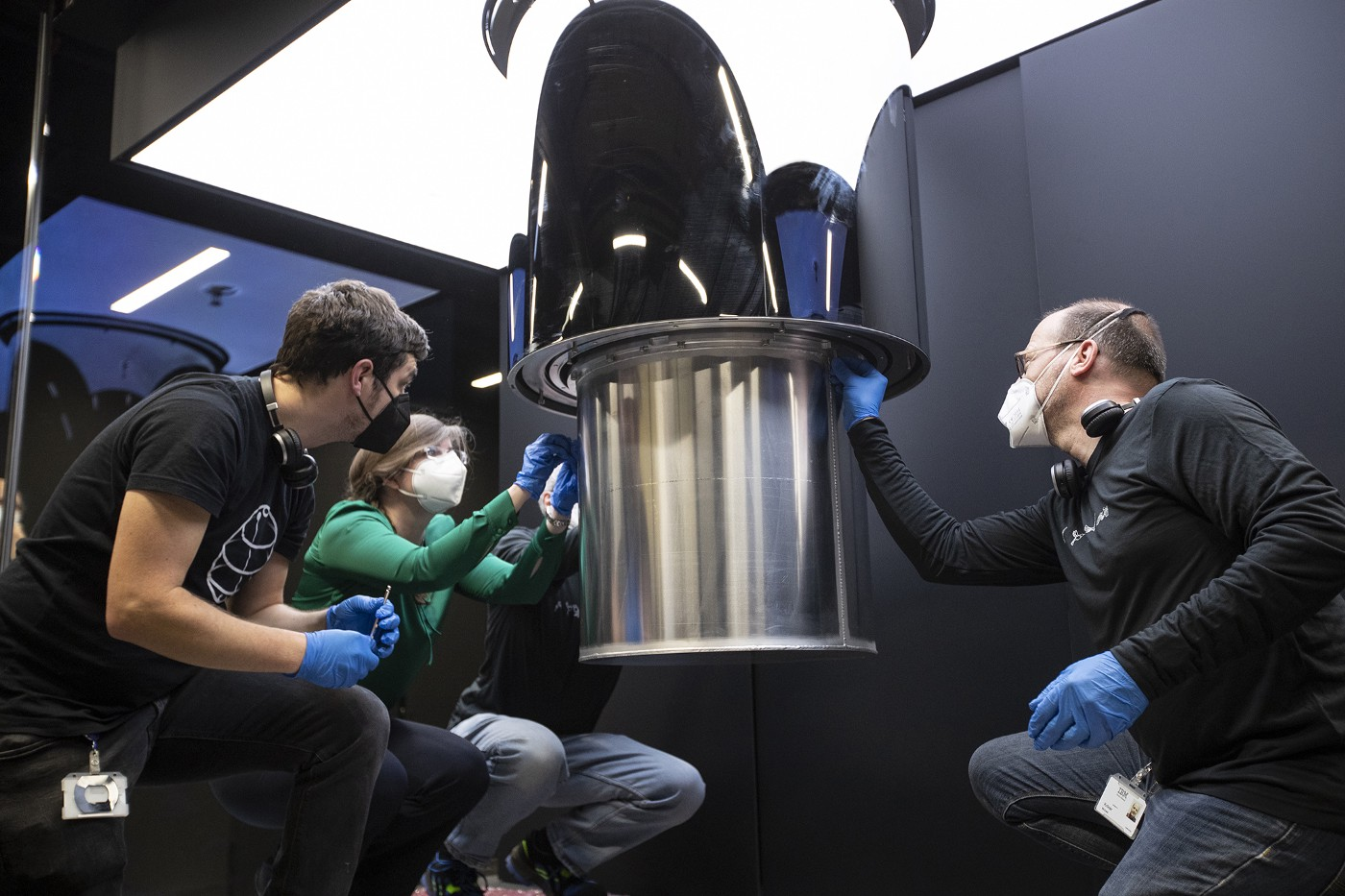 IBM engineers in Germany working on the IBM Quantum System One in Ehningen, Germany, for Fraunhofer-Gesellschaft.