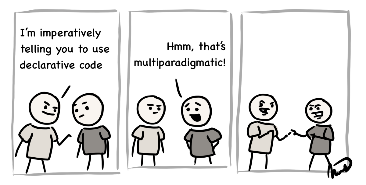 cartoon about imperative vs. declarative code