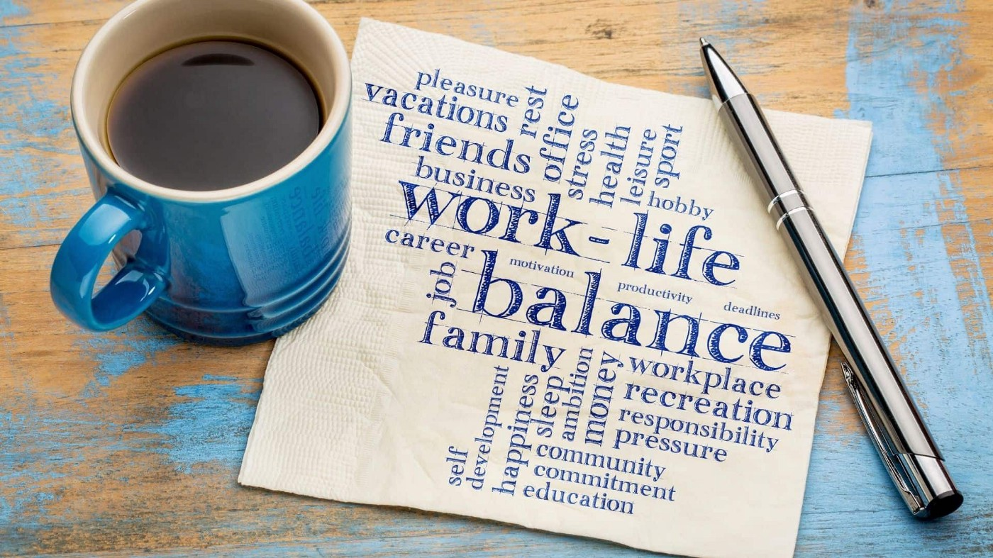 Finding a Work-life Balance—abstract illustration