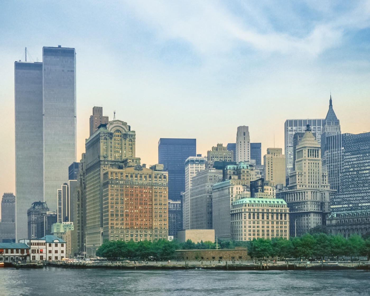 Twin Towers and lower Manhattan. Licensed through Adobe Stock