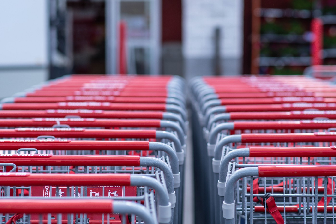 Shopping carts lined up