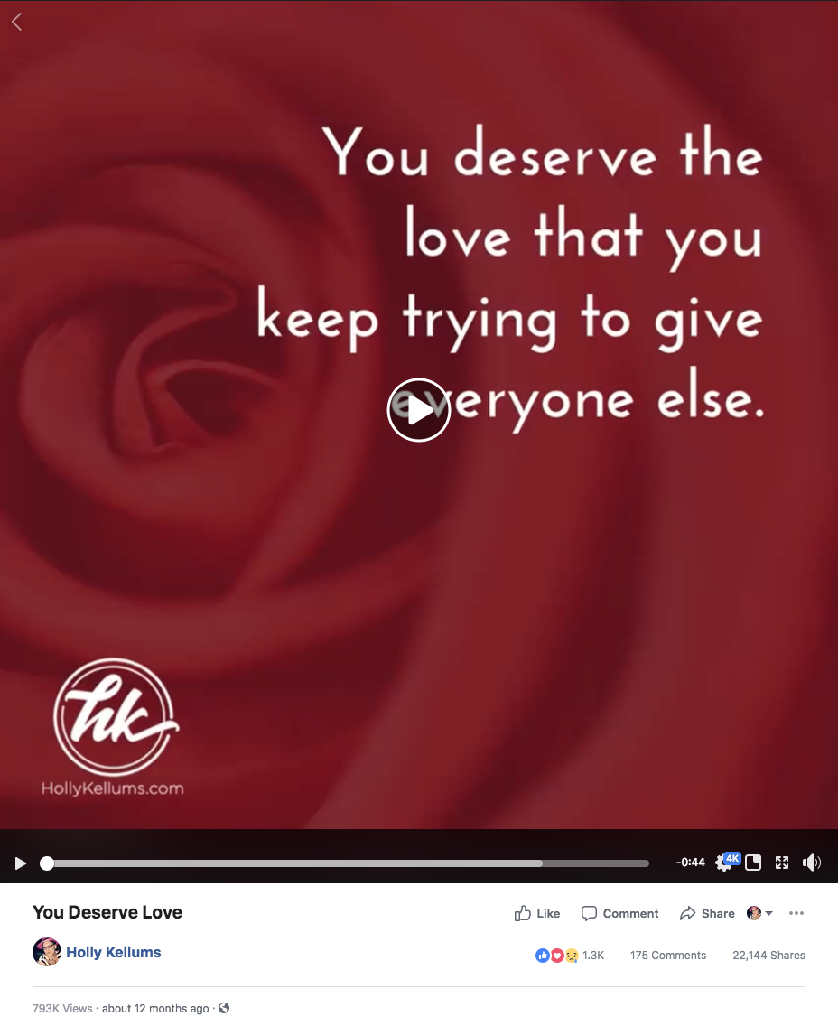 You Deserve The Love You Keep Giving Others   by Holly Kellums ...