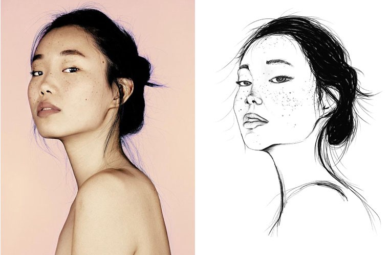 how to make a drawing from a real photo in photoshop
