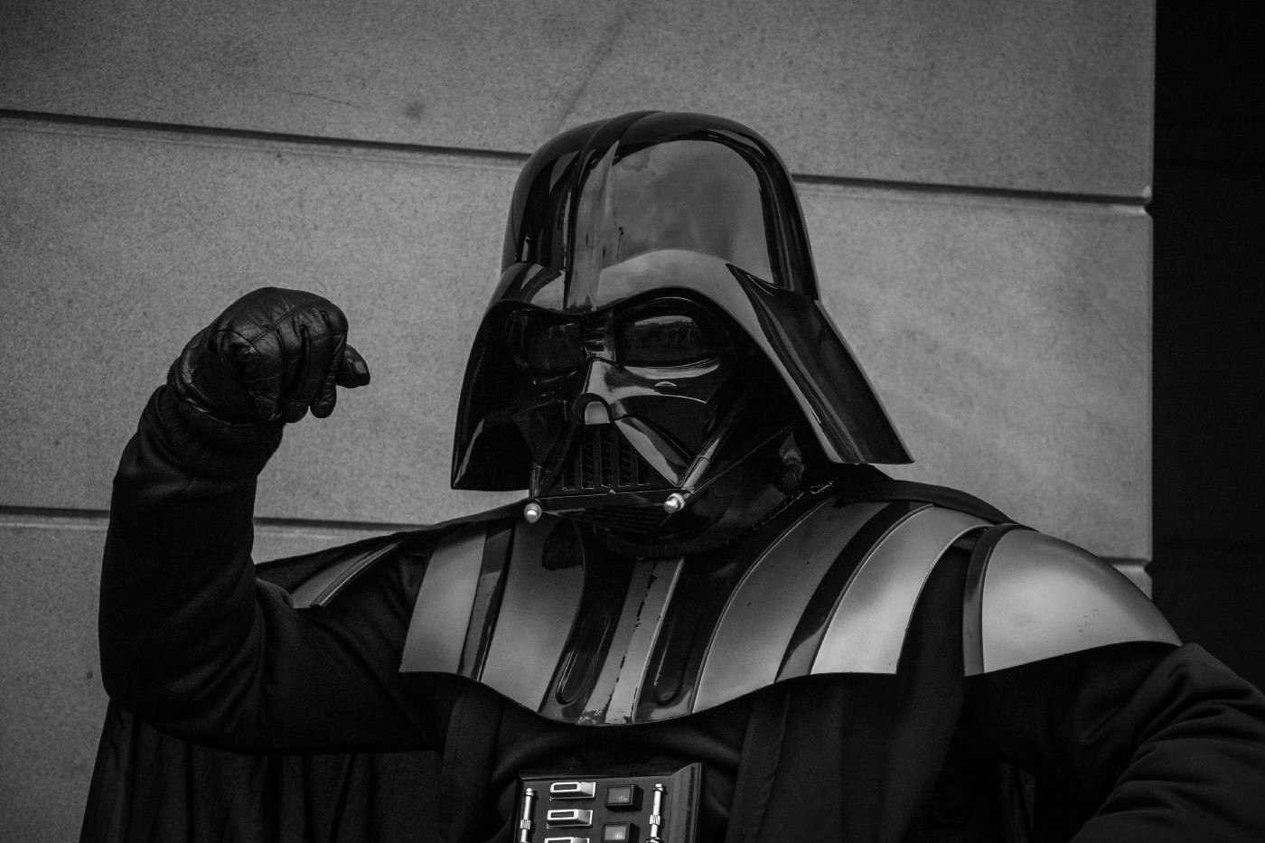 Darth Vader with clenched fist