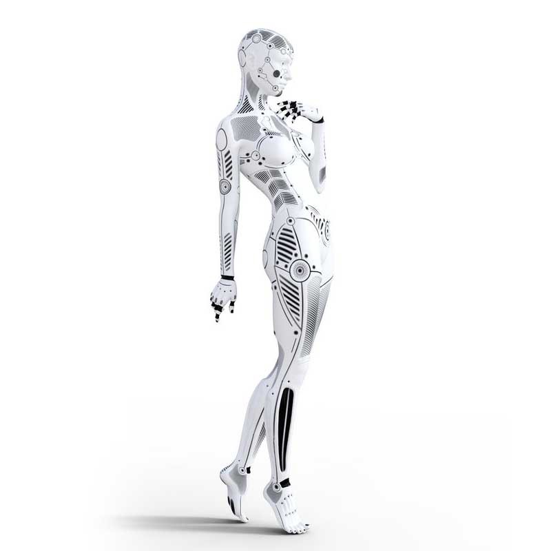 Picture of a robot woman