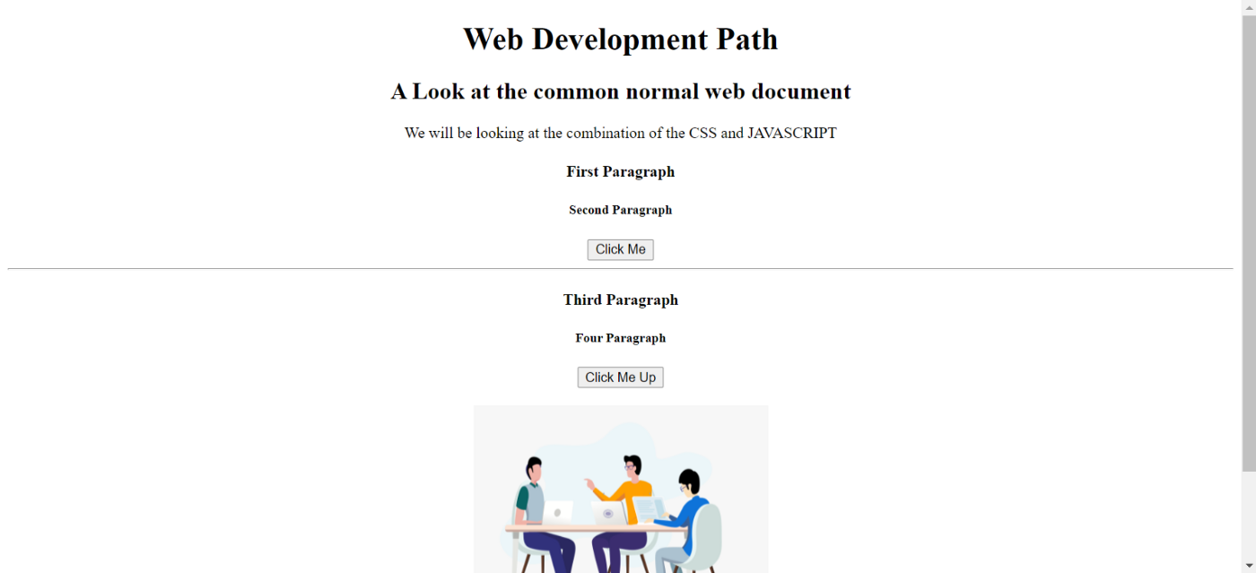 A basic HTML Page view on which we are going to implement our styles and our interaction with the user.