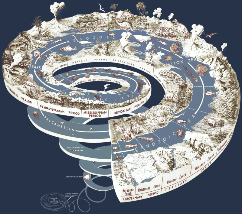 History of Life on Earth Geological Time Spiral