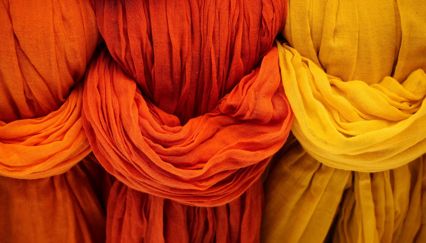 Different colored drapes