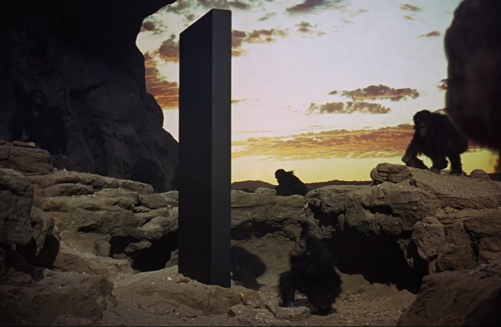 An image of a monolithic stone from the movie 2001: A Space Oddyesye