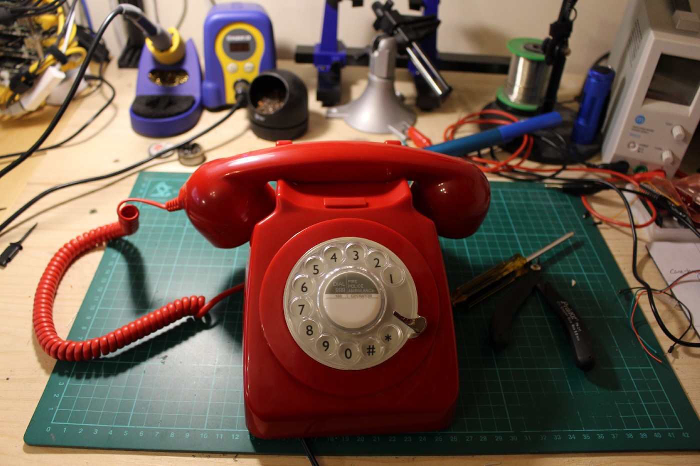 A Retro Rotary Phone Powered by AIY Projects and the Raspberry Pi on