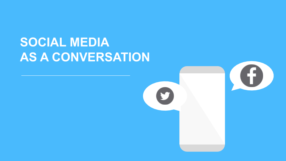 Illustrated cell phone with the title, Boost Your Social Media Through Conversations.